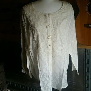 Lovely Embroidered/Embellished Cotton Top